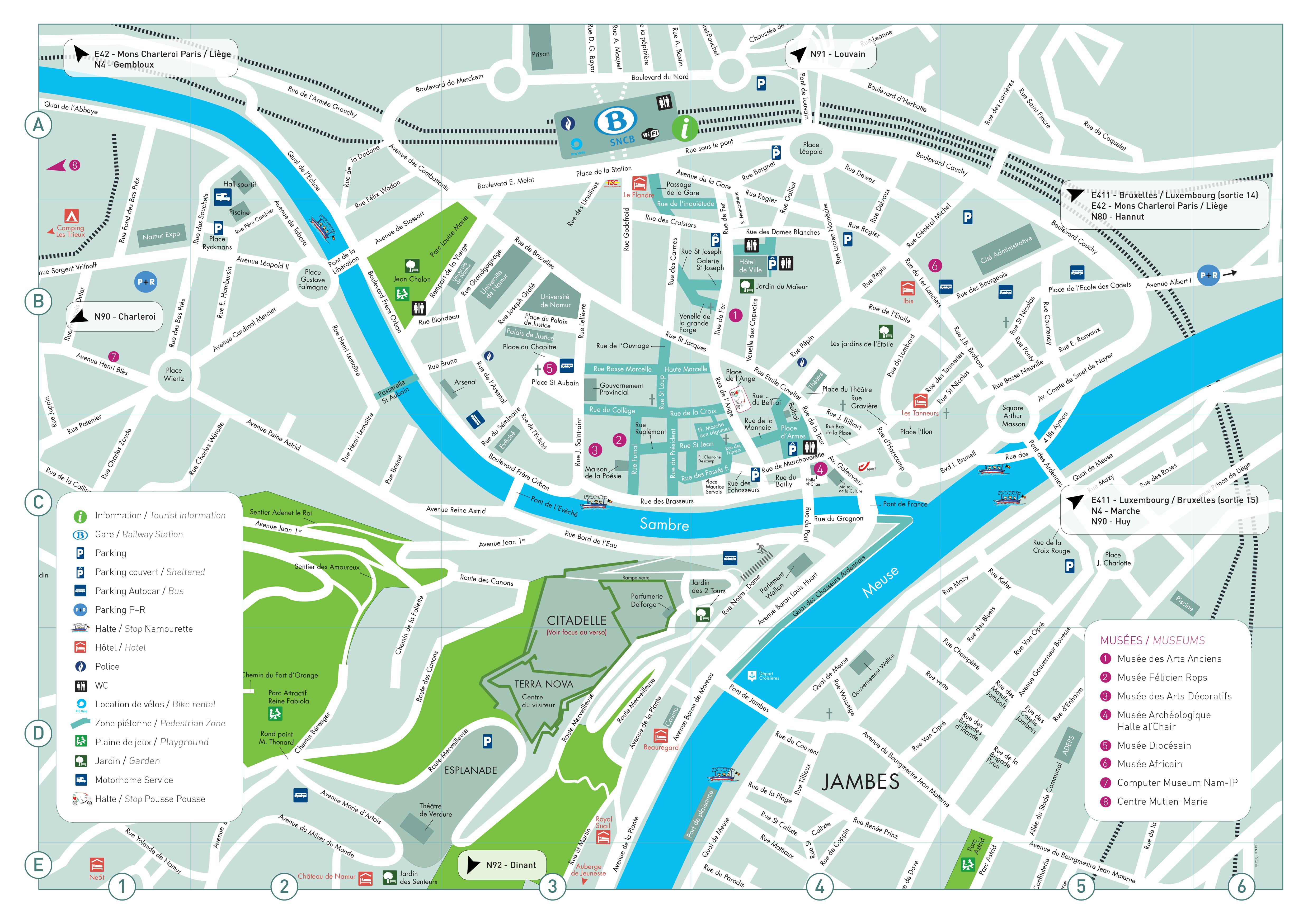 Plan de namur visit namur office du tourisme de namur - Office du tourisme palerme ...