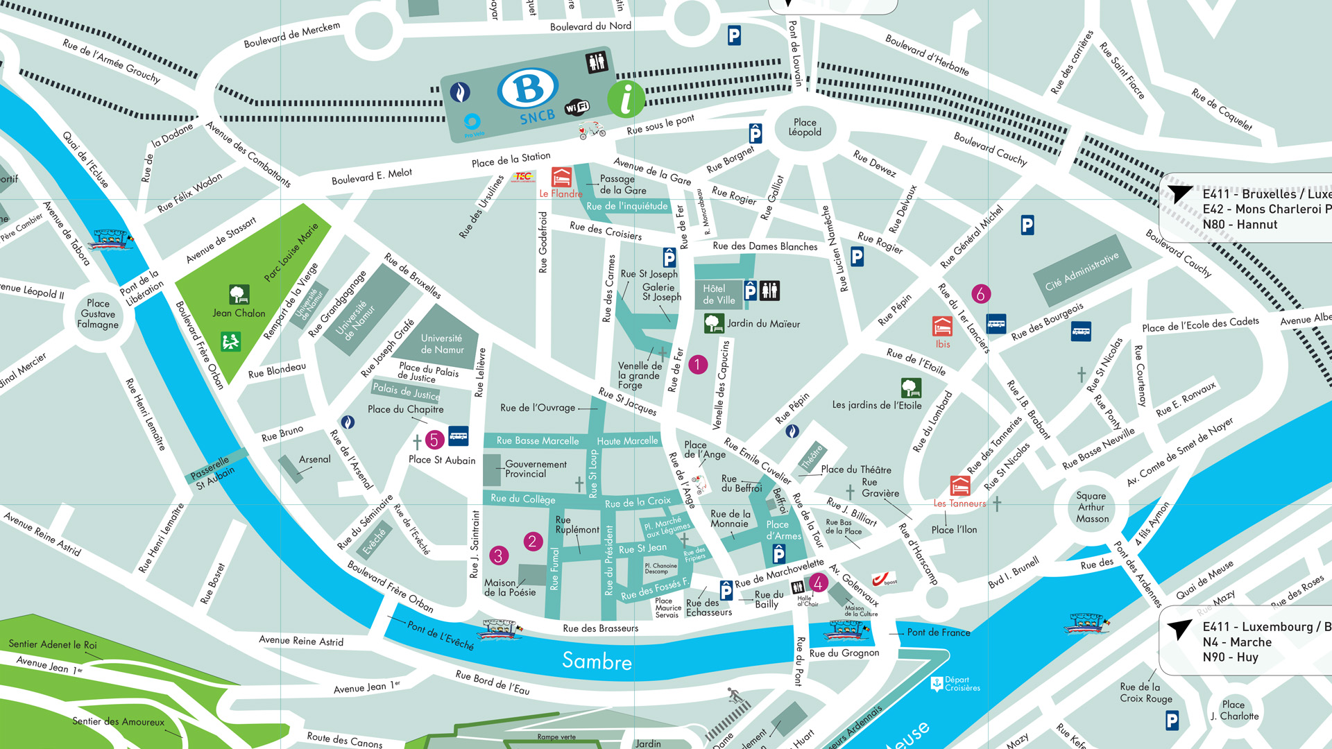plan Visit Namur